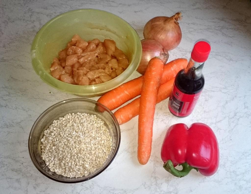 kura w sosie sojowym - składniki