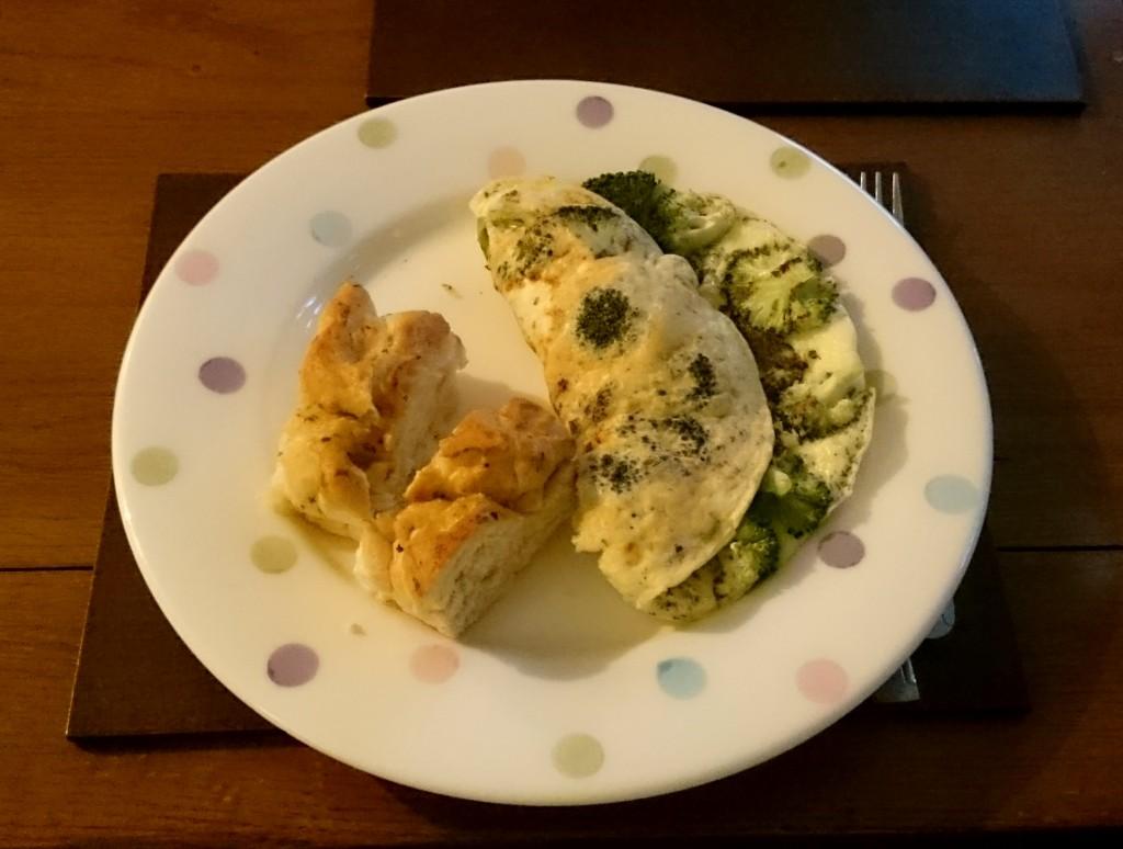 omlet z brokułem