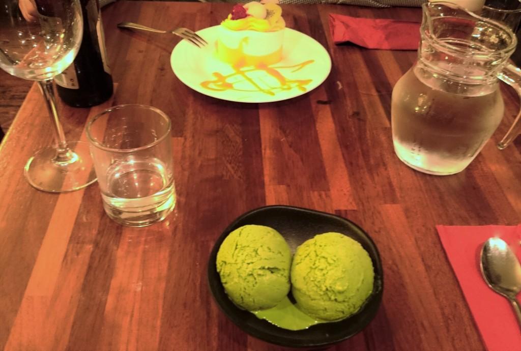 lody z zielonej herbaty