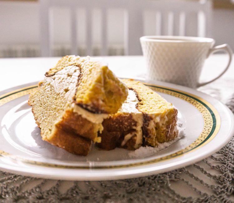 Ciasto dyniowe z kremem kawowym
